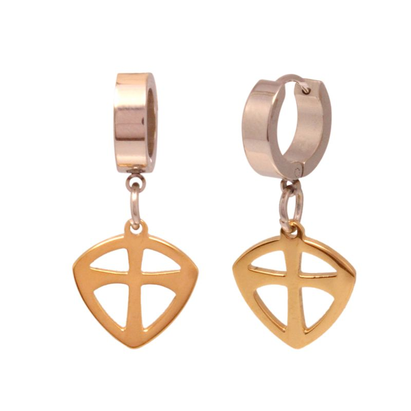 Buy Vendee Golden & Silver Earrings online
