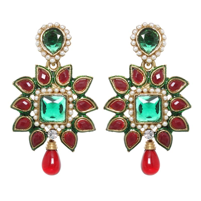 Buy Vendee Fashion Tribal Princess Drop Earrings online
