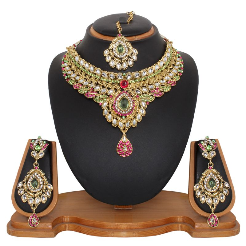 Buy Vendee Fashion Fluorecent Necklace Set (8481a) online