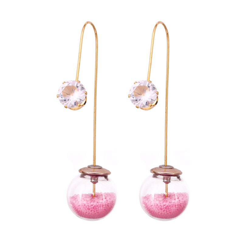 Buy Vendee Fashion Unique Pink Dangle Earrings online