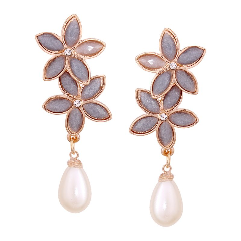 Buy Vendee Fashion Floral Earrings online