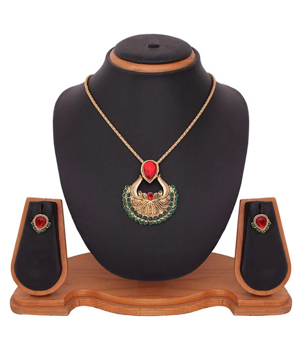 Buy Traditional Temple Pendant Set online