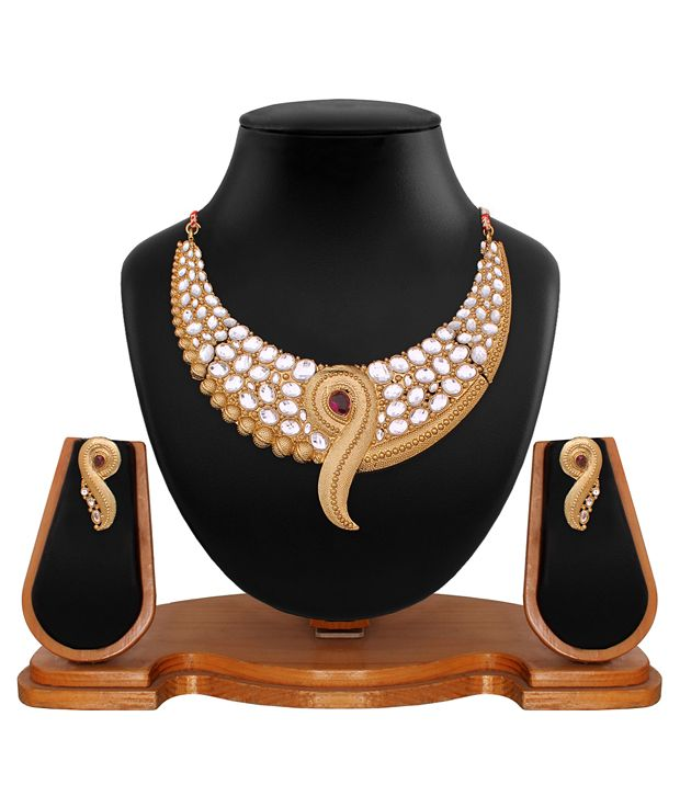 Buy Gold Plated Traditional Necklace Jewellery online