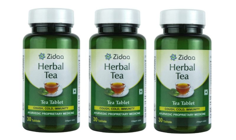 Buy Zidaa 100% Natural Herbal Tea - Pack of 3 (30 Tablets Each) online