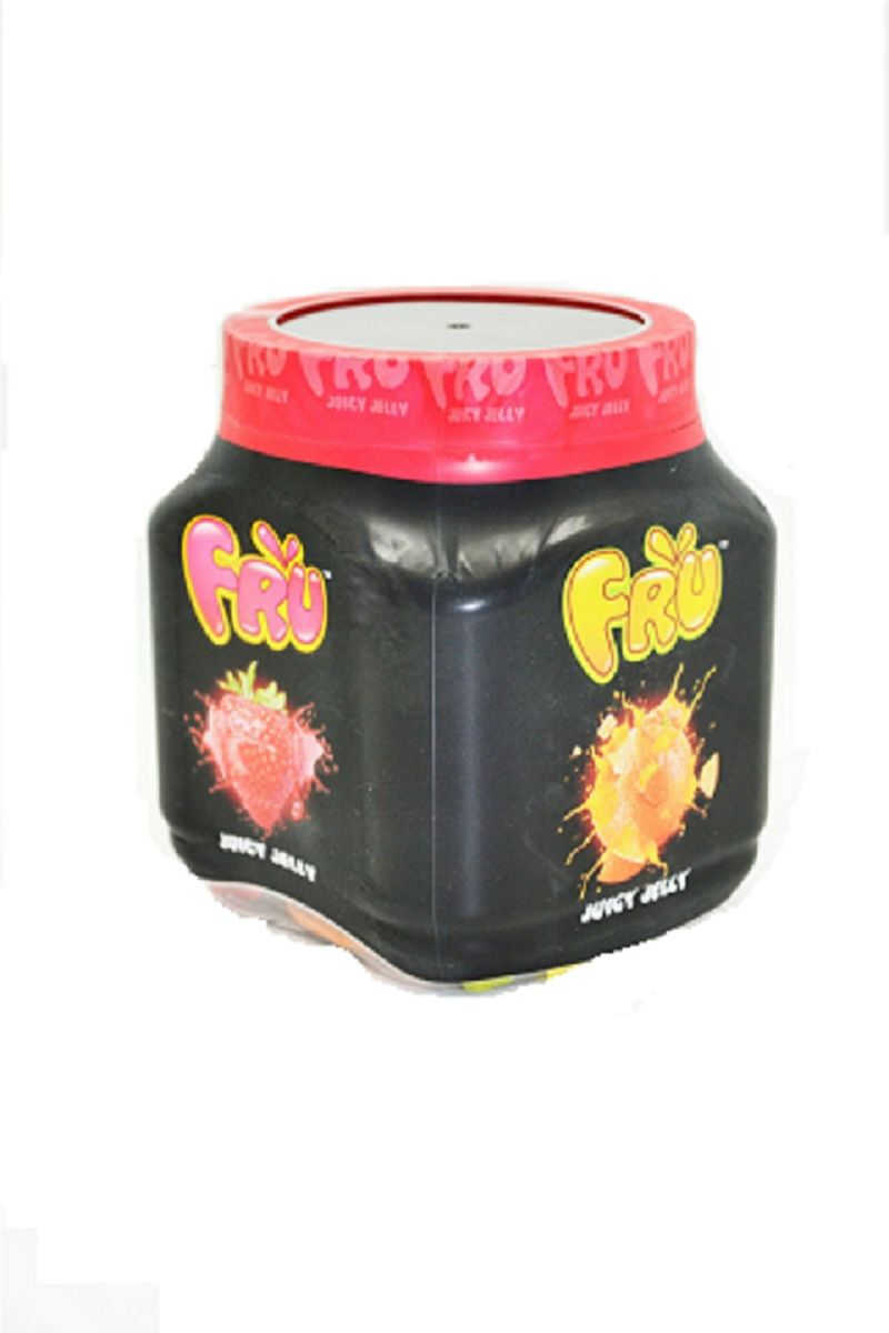Pack Of 2 - Fru Juicy Jelly Candy Assorted Small Jar 190 Gram