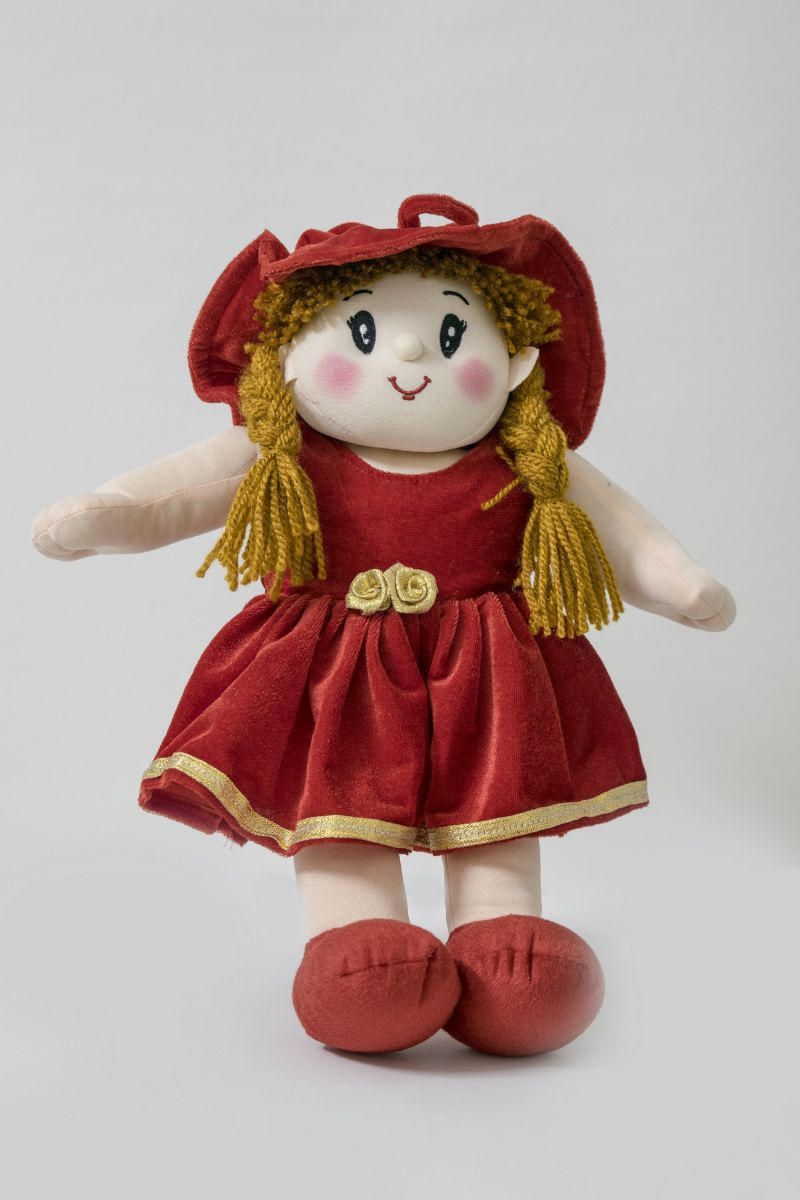 Buy Baby Doll Girl Dolly Velvet Red Color by Lovely Toys online