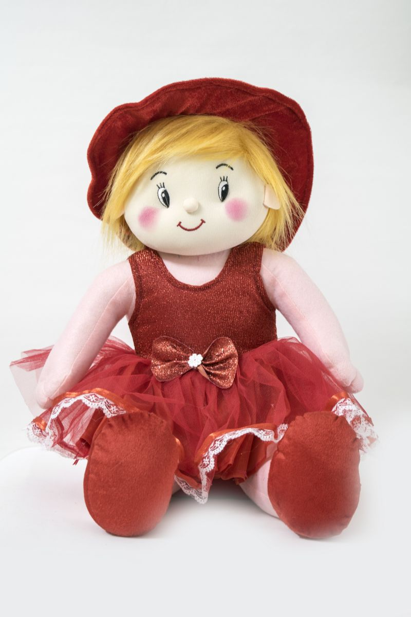 Buy Baby Doll Girl Gracy Red Color by Lovely Toys online