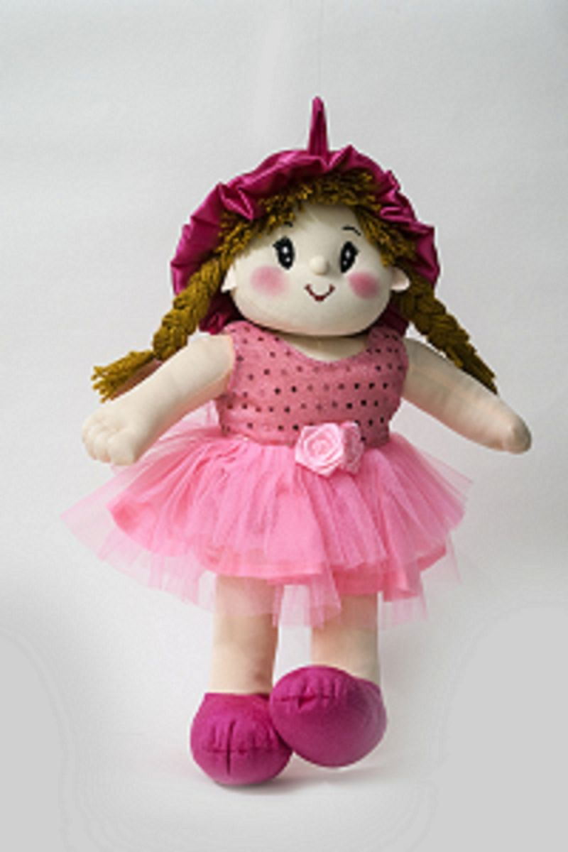 Baby Doll Girl Dolly Net Pink Color by Lovely Toys