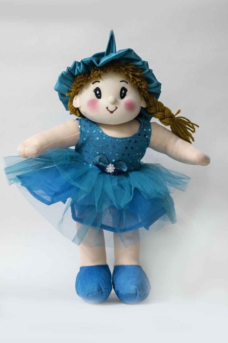 Baby Doll Girl Dolly Net Blue Color by Lovely Toys