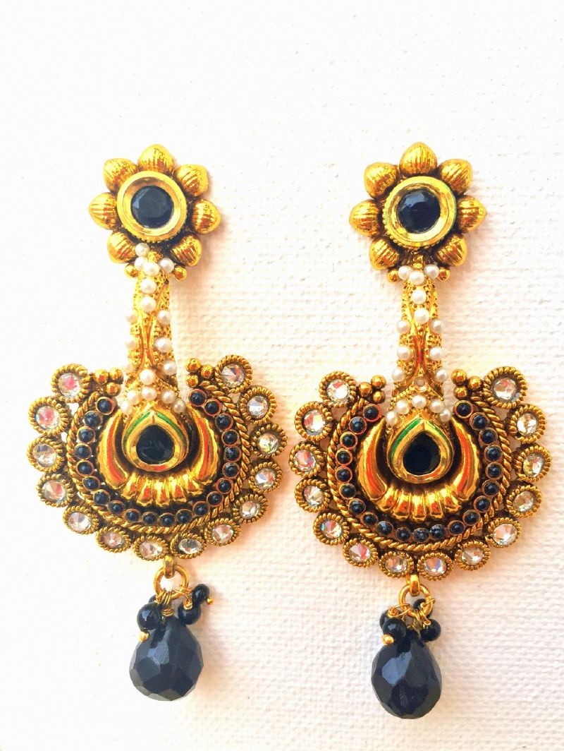 bead and ball plated fashion earrings matching faceted purple p stone costume jewellery set htm ladies necklace statement earring gold imitation
