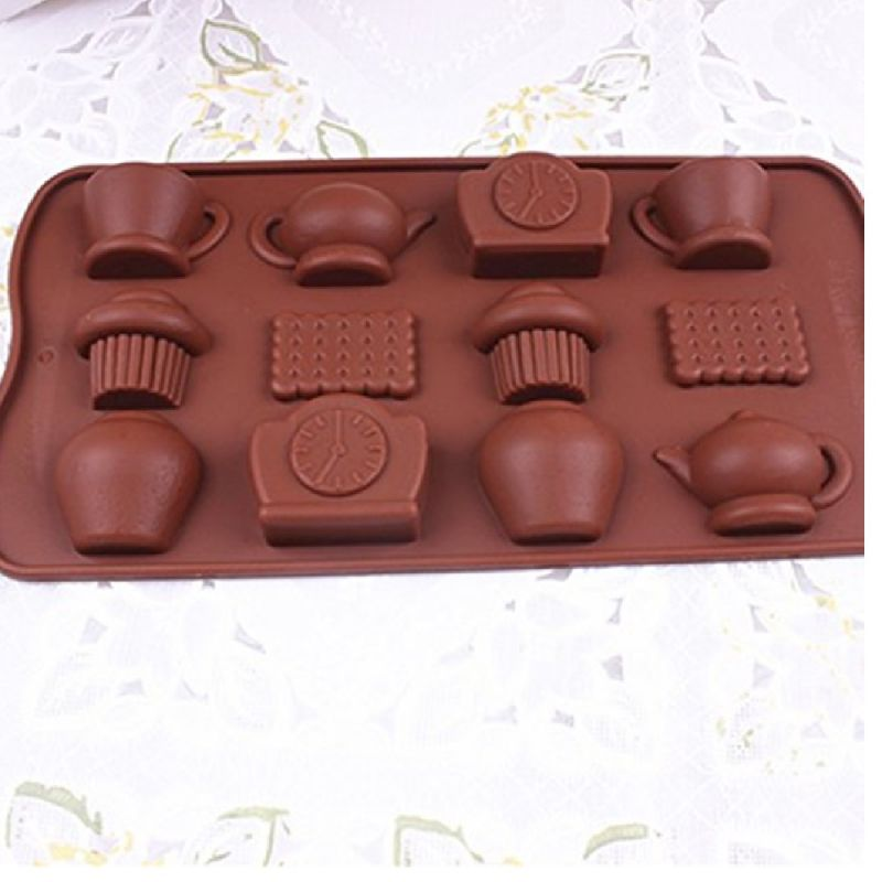 Buy Silicone Chocolate Molud Biscuit Tea Pot Set  By Okayji online
