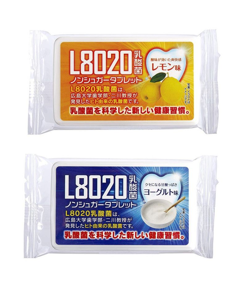 Buy Doshisha L8020 Anti Bacteria Dental Care Tablets, Lemon And Yogurt Flavor, Set Of 2, 9gms Each online