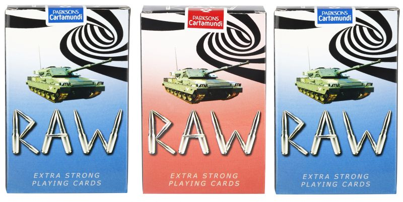 Buy Parksons Cartamundi Plastic Coated Paper Playing card (Raw) for fun / game / party - Pack of 3 online