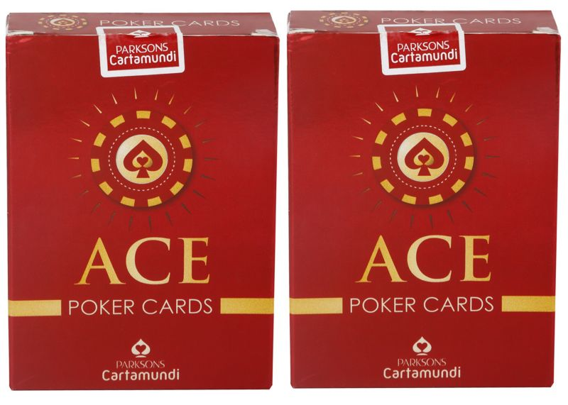 Buy Parksons Cartamundi Ace Poker - Pure Plastic Playing card for Fun / game / party - Pack of 2 online