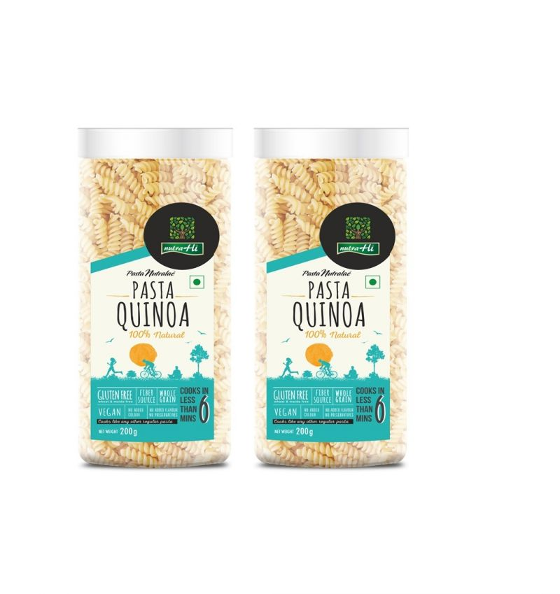 Buy Quinoa Gluten Free Pasta Pack Of 2 - 200g Each - By Nutrahi (code - Nhb05) online