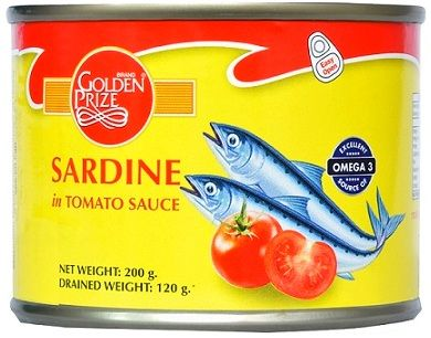 Buy Golden Prize Sardine in Tomato Sauce 200Gms Each - Pack of 2 Units online