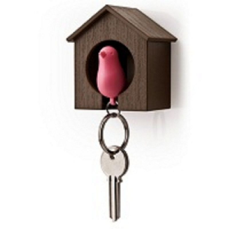 Buy Daffodils Bird Nest Bird Keyring Brown Pink Key Chain (brown, Pink) online