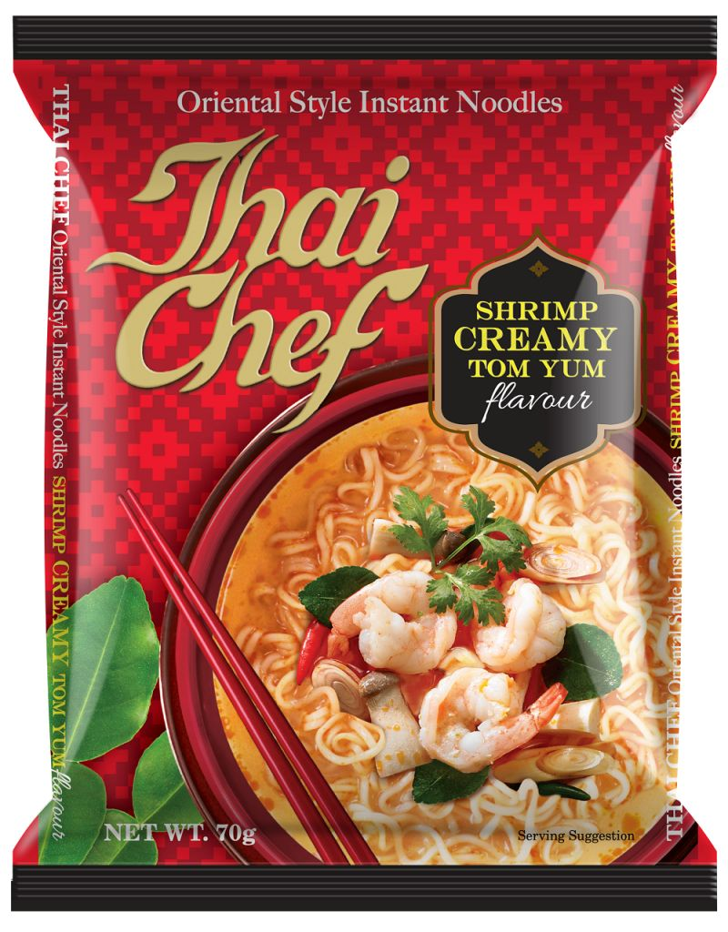 Buy Thai Chef Inst Noodles Shrimp Creamy Tomyum 70Gms Each - Pack of 5 Units online