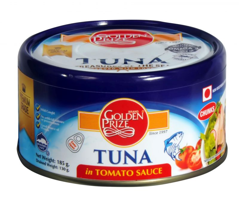 Buy Golden Prize Tuna Chunk in Tomato Sauce 185Gms Each - Pack of 2 Units online