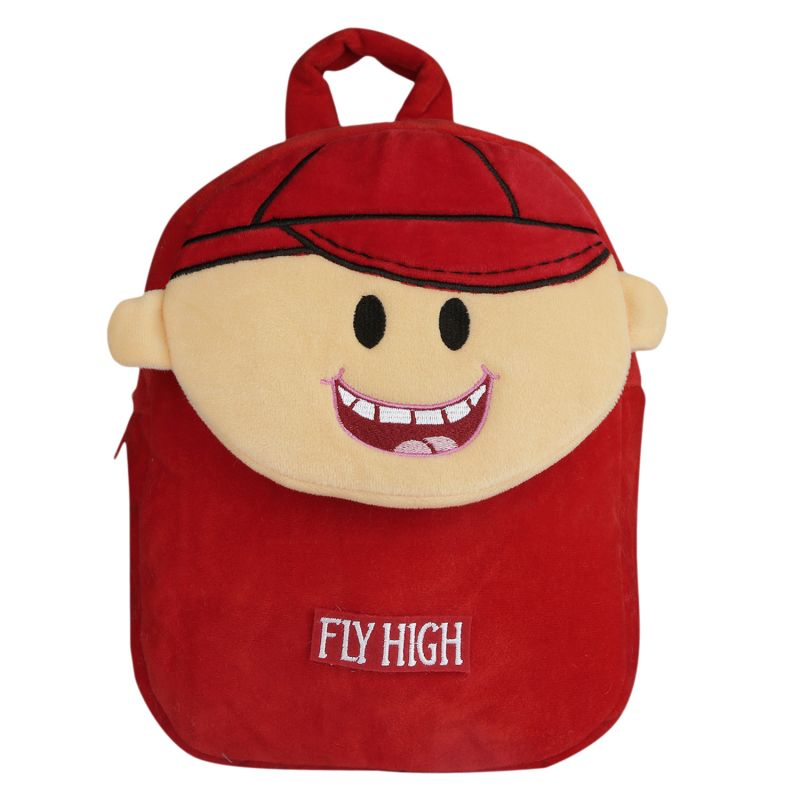 Buy Velboa School Bag - Red & Brown - Made In India - By Lovely Toys online