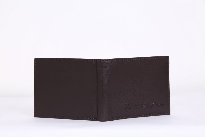 Buy Mens Leather Wallet (brown) By Victoria Cross (code - Vcw 010) online