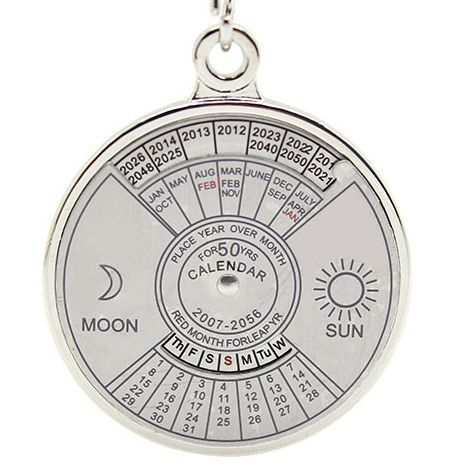 Buy Calendar Date Month Year Day Time Compass Keychain Keyring Of 50 Years online