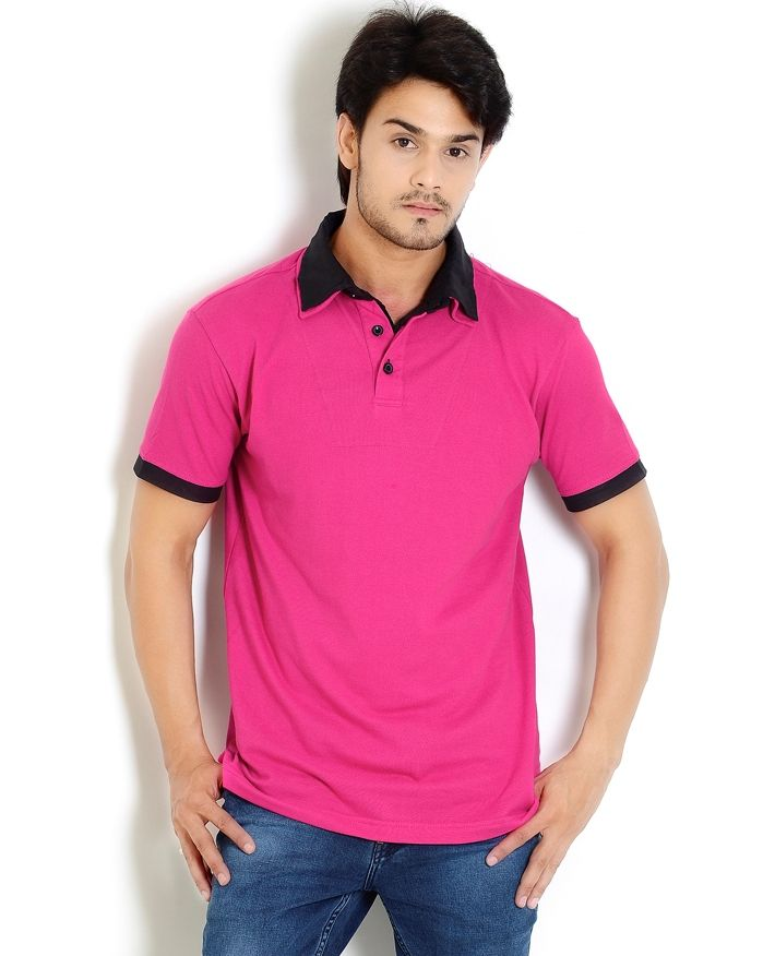 Pink t shirt online shopping is shirt for Mens collared t shirts