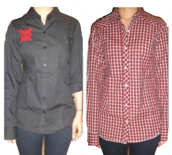Buy Nick & Jess Set Of 2 Casual & Formal Womens Shirts (gsfs018) online