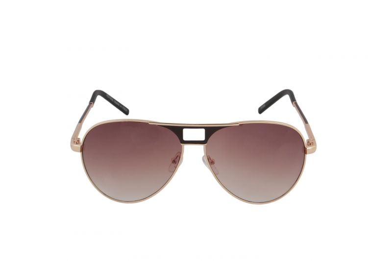 Buy Petrol Brown Aviator Sunglasses For Men online