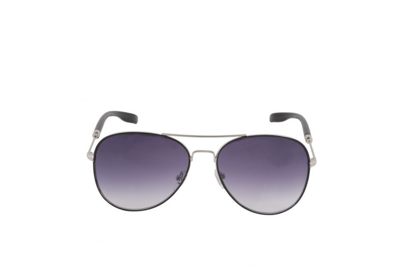 Buy Petrol Silver Aviator Sunglasses For Men online