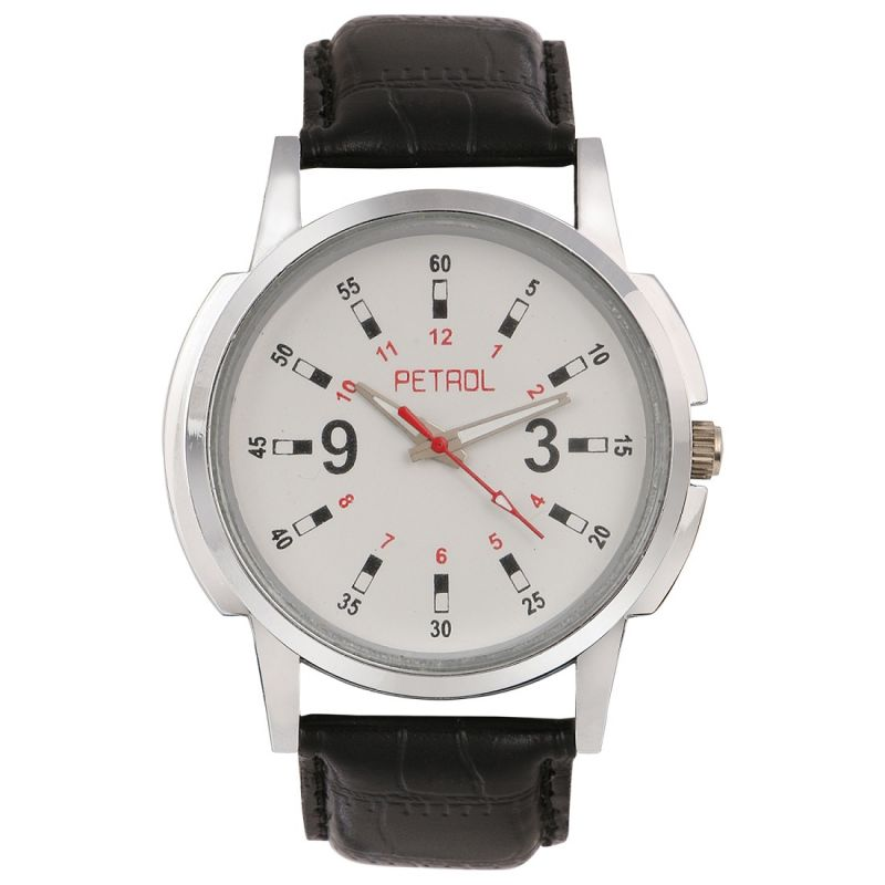 Buy Petrol Men's Round Shaped White Dial Watch online