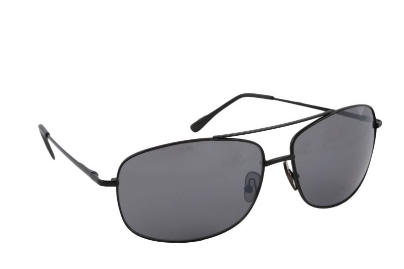 Buy Petrol Black Rectangular Sunglasses For Men online