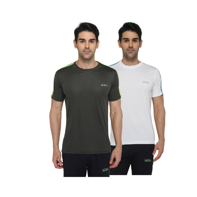 Buy Sgx Polycotton Men's T-shirt (pack Of 2 ) online