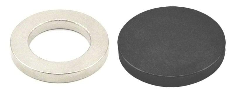 Buy Domo Nhance Mgnt20 Ferrite Magnet (y30 - 20*3mm) With Neodymium Magnet Ring (n35 - 18*10*2mm) online