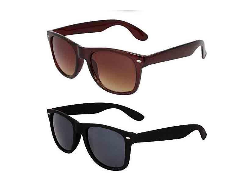 Buy Wayfarer Sunglasses- Black & Brown - Buy 1 Get 1 Free Js online