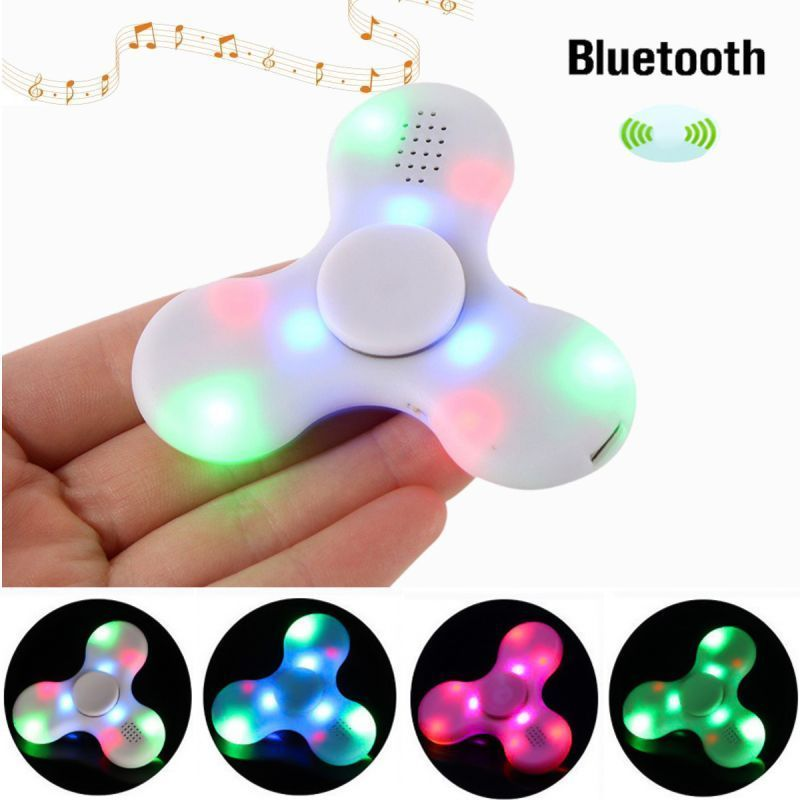 Buy LED Light Bluetooth Speaker Anti-stress Fidget Hand Tri Spinner.(assorted Color) online