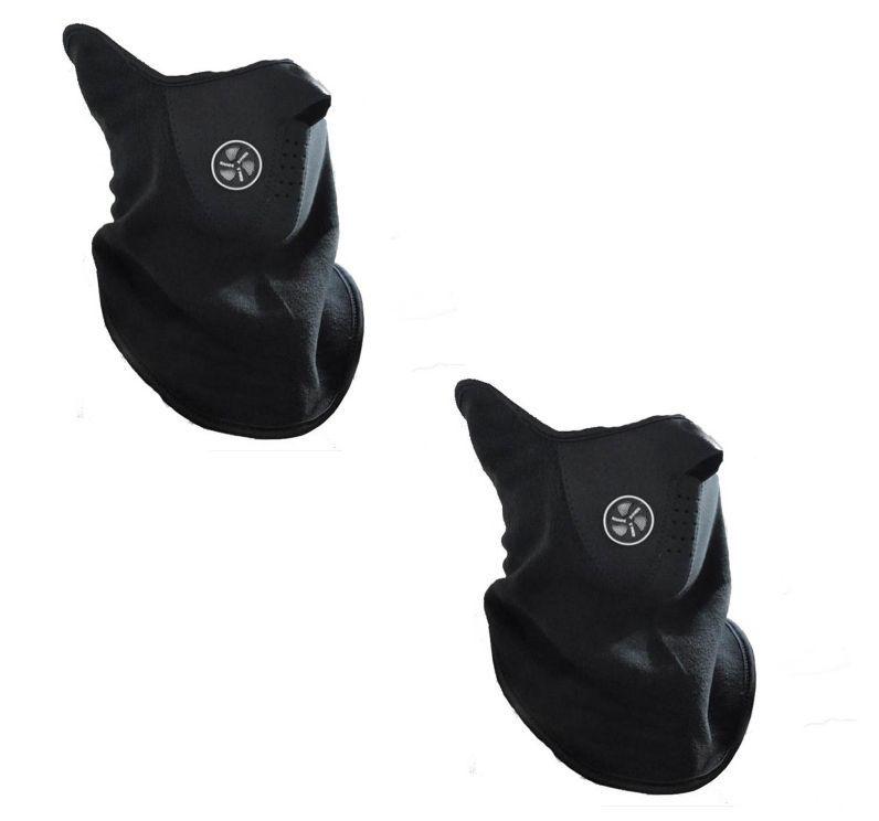 Buy Biker Facemask - Balaclava(black)- Riding Bike Half Face Mask(pack Of 2) online