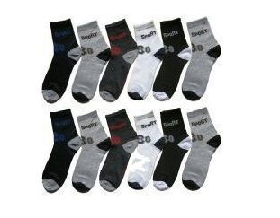 Buy 12 Pairs Of Men Ankled Cotton Socks Free Gift online