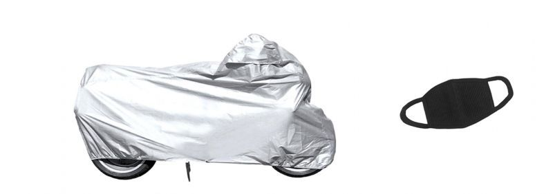 Buy Combo Of Bike Body Cover For Honda Shine And A Pollution Mask online