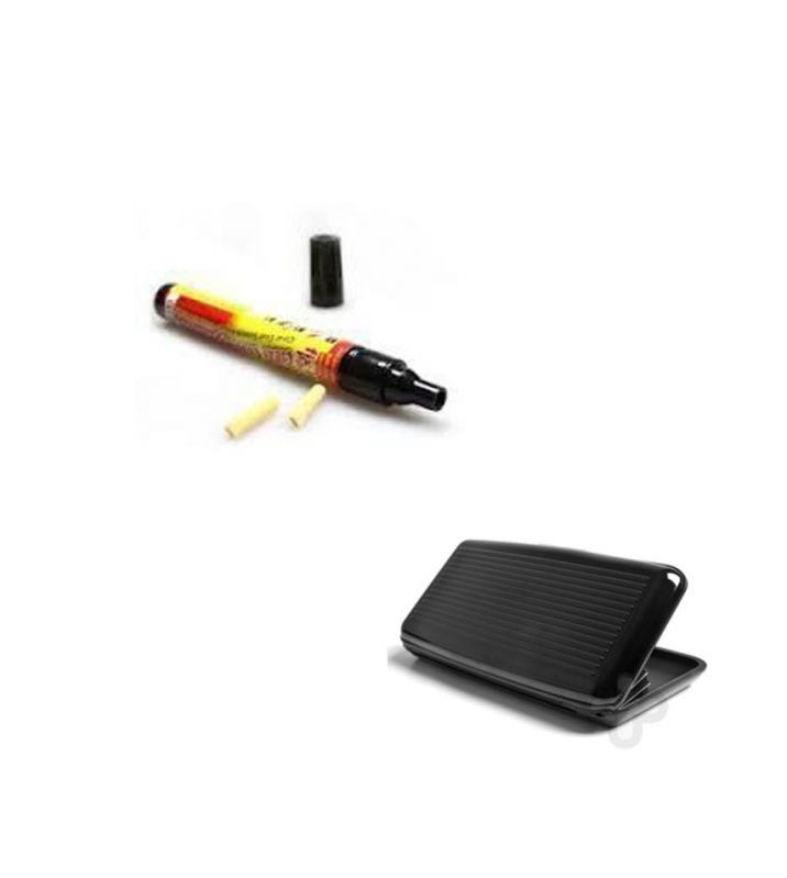 Buy Car Scratch Remover Scratch Filler Pen With Black Aluma Wallet online