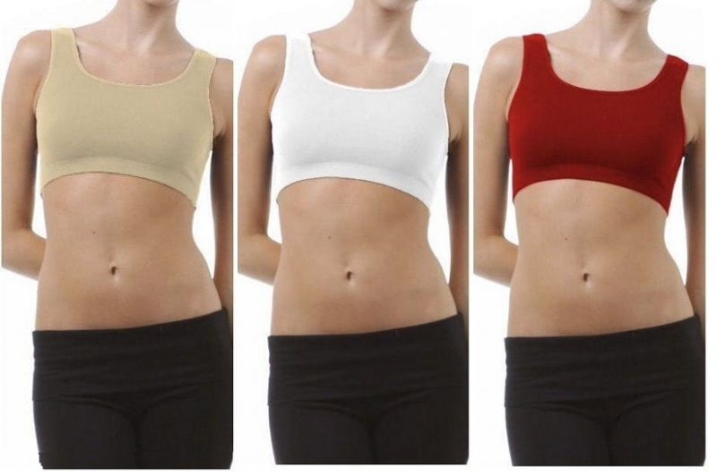 29939711a1 Buy Set Of 3 Sports Comfortable Inner Seamless Beautiful And Stylish Air  Bra Free Size online