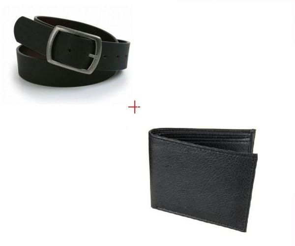 Buy Executives Combo Of Men's Leather Wallet & Belt online
