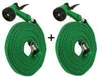 Buy Buy 1 Get 1 Free Water Spray Gun 10 Meter Hose Pipe- House, Garden & Car online