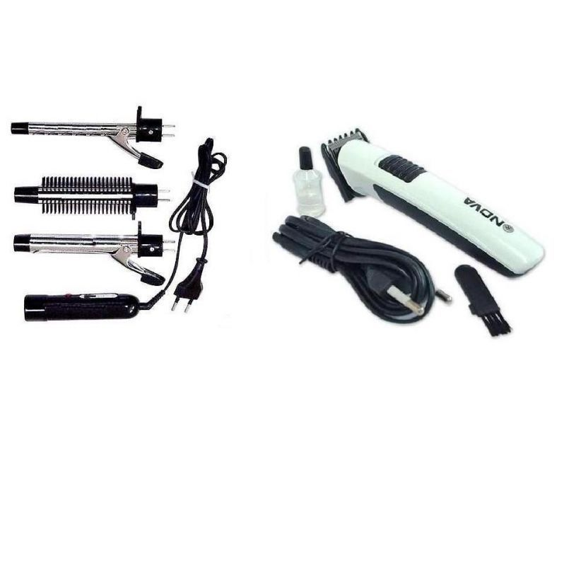 Buy Combo Of Nova Rechargeable Hair Trimmer 3-in-1 Set The Interchangeable Cur online