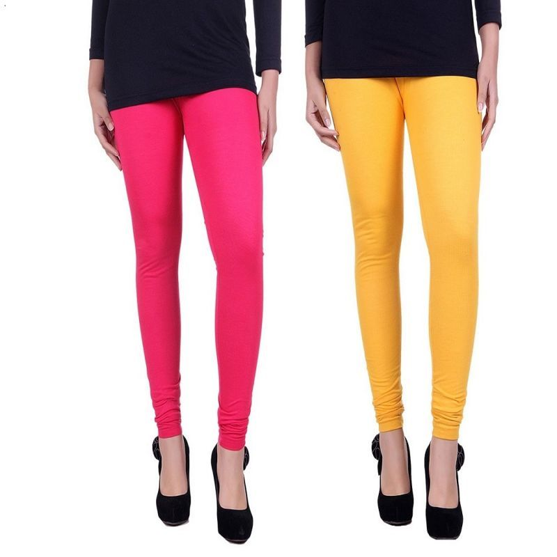 Buy Stylobby Multicolor Set Of 2 Cotton Lycra Legging online