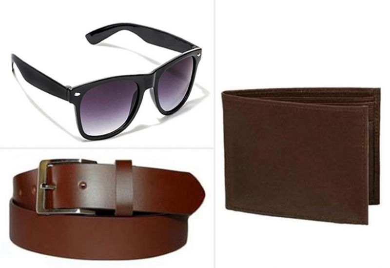Buy Jack Klein Combo Of Brown Belt, Brown Wallet And Sunglass online