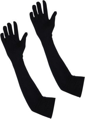 Buy Black Arm Sleeves Elbow Sleeves Cooling Sun Protection Cover 1 Pair online