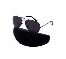 Buy Nau Nidh Pure Black Aviator Sunglasses With Hard Case online