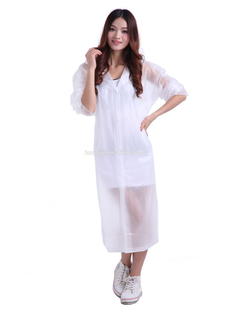 Buy Ladies Long Rain Breaker Transparent Raincoat For Rainy Season With Carry Pouch online