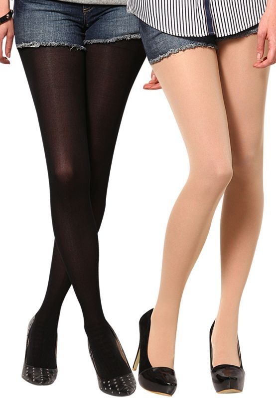 Buy Stonic New Pack Of 2 Skin & Black Premium Transparent Women Stocking (product Code - Sokyw5) online